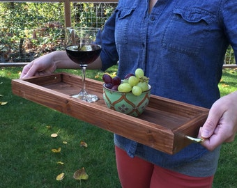Wood Tray, Serving Tray, Tray, Reclaimed Wood, WoodenTray, Ottoman Tray