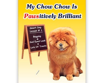 Chow Chow Pawsitively Brilliant Fridge Magnet