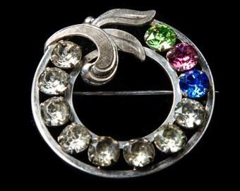 Van Dell Sterling Silver Wreath Brooch, circa 1950s.