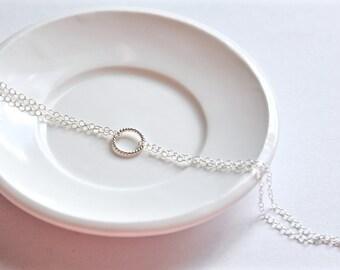 Dainty circle bracelet