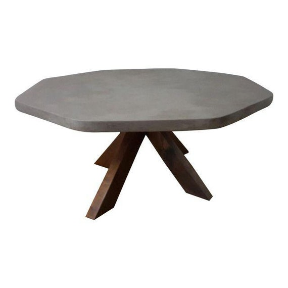 Etsy Round Coffee Tables: Items Similar To Concrete Round Coffee Table With Cherry