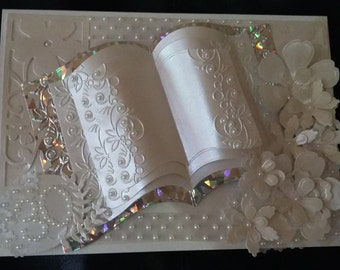 Pearl 30th Anniversary Card/Handmade/Personalised