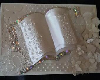 30th Anniversary Card/Pearl/Handmade/Personalised