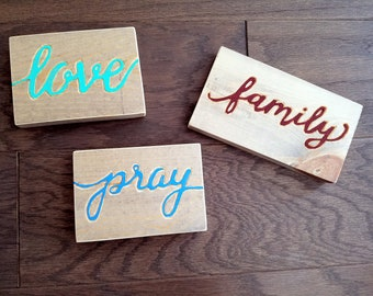 Pray, Family and Love Magnets