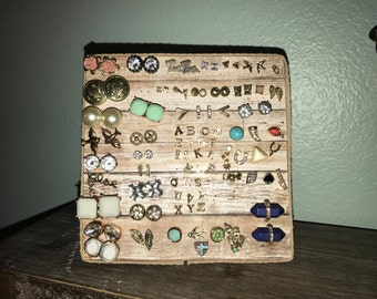 Standing Earring Display / Earring Stand / Jewelry Display / Jewelry Stand / Stud Earring Organizer / Handmade / All Earrings Included