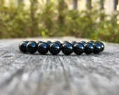 Spinel Bracelet Handmade 8mm Grade A Black Spinel Beaded Gemstone Bracelet Stack Bracelet Unisex Bracelet Gift Bracelet