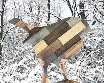 """Rustic Wood Bird - Standing 36"""""""