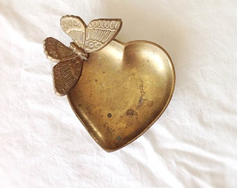 Vintage Brass Butterfly Dish