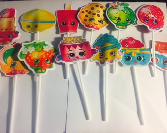 Shopkins toppers for any decoration 24 pcs
