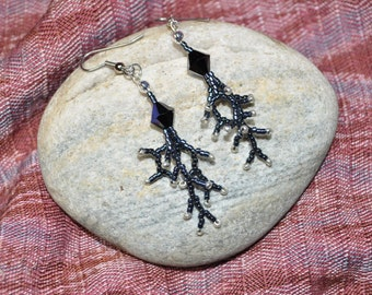 Branched Fringe (Swarovski) Earrings