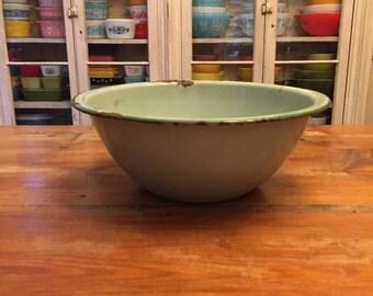 Green Enamel Bowl