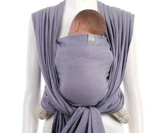 Woven Baby Wrap - Blue-Pink Baby Wrap by babywrap.com.my - Woven Wrap Baby Carrier