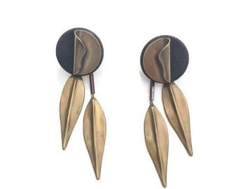 Vintage modern statement earrings / minimalist