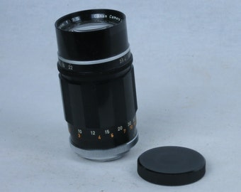 CANON 135mm F=3.5 lens with 39x1 screw mount for Canon rangefinder cameras, EXC++