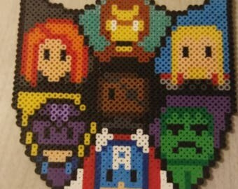 Shield of Avenger Characters in Perler Beads