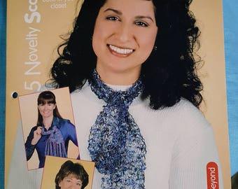 2000 House of White Birches 5 Novelty Scarves Knitting Pattern Leaflet