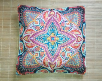 hippie cushion stamp / funda cojín mandala / indian pillow case