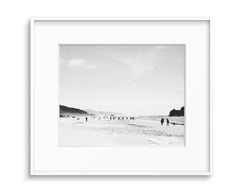 Seaside Art, Black and White Print, Printable Art, Beach Art, Contemporary Art, Coastal Decor, Seaside Decor, Digital Print, Wall Print, Art