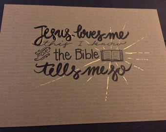 Jesus Loves Me 5x7