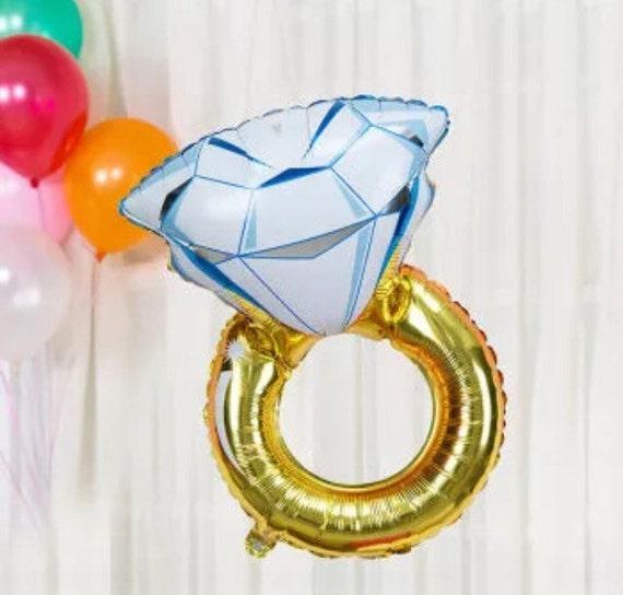ring balloon engagement balloon anniversary balloon