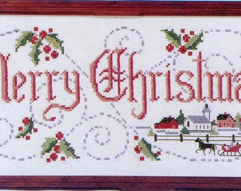 Merry Christmas Stamped Sampler Kit by Country Stitches