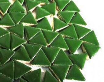 Triangle Ceramic Mosaic Tiles - Pesto - 50g