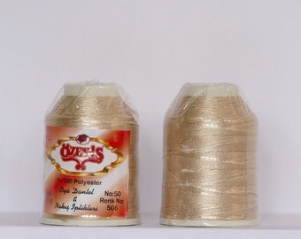 oya Turkish lace crochet polyester no50 thread color 506 Özen Is haakgaren for crochet needle no 21 / 0,55 - 20 gr