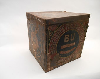 Vintage French Biscuit Tin