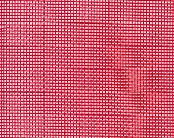 """Red Vinyl Mesh 18"""" x 36"""" screen (half yard x 1 yard) for bags, purses, totes, crafts, needlepoint embroidery, cross stitch, pets, outdoors"""
