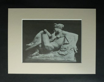 1970s Vintage Erotic Print of Leda and the Swan by Bartolomeo Ammannati, Renaissance Sculpture, Available Framed, Wall Art Print, Erotic Art