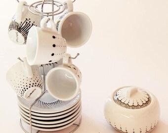 Service espresso cups