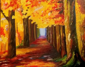 "SOLD 46x38cm. 18""x15"" Original ""Autum"""