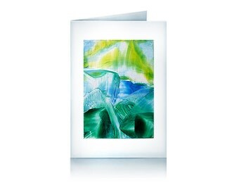 Greeting card: Ice landscape