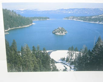 Emerald Bay Lake Tahoe Christmas Card Fannette Island Emerald Point Eagle Point Photo Christmas Card