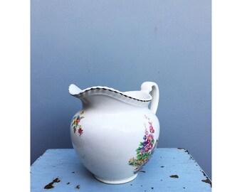 Johnsons bros vintage water jug / flower vase
