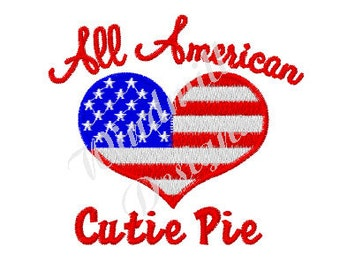 American Cutie Pie - machine embroidery design