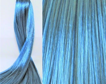 WATERY BLUE Saran Doll Hair for Custom OOAK/Rerooting