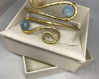 Bracciale semirigido wire gemstone and Swarovski