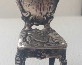 Berthold Muller, Victorian, Silver, Miniature Chair.