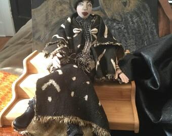Doll Lady in MudCloth