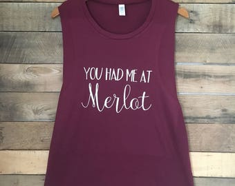You Had Me At Merlot, Funny Workout Tank Top, Cute Gym Tank, Funny Wine Shirt, Cute Workout Tank, Funny Tshirts, Funny Tank Top, Wine Shirt