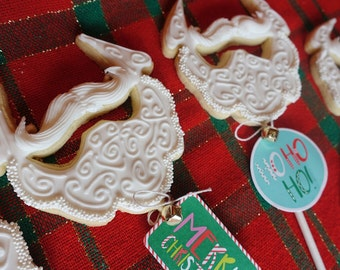 Santa Beard Christmas Cookie Pop