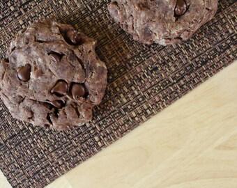 Two Dozen Hot Cocoa Protein Cookies- Vegan, Vegetarian, Gluten Free, Sugar Free, Paleo, Clean Eating