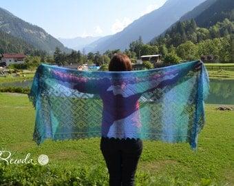 Shoulder shawl, scarf, shawl, hand work
