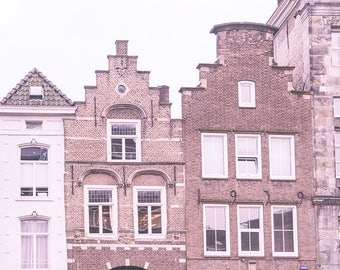 Dutch Gables - urban photography, Netherlands photo print, Holland photography, Dutch decor, Dutch roofs, canvas wall art, fine art, facades