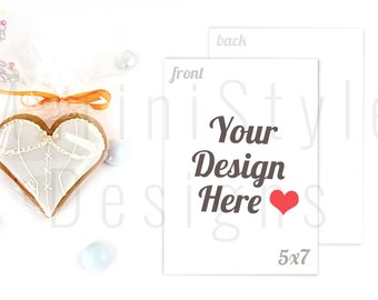 Wedding Invitation Styled Stock Photography, 5x7 Card Mockup, Horizontal & Vertical, Front and Back, Stock image, Stock Photo, Stationery