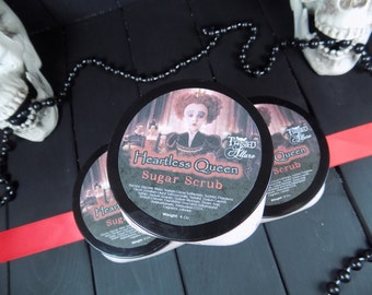 Whipped Sugar Scrub  - Sugar Scrub - Queen of hearts-Forever Red - Gothic Sugar Scrub - Gothic - 4oz