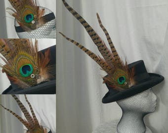 Feather Steampunk, Gothic, Hat band/Head band