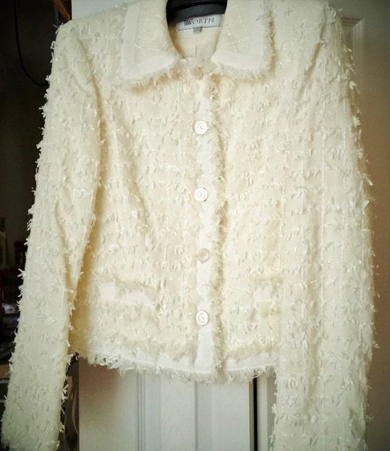 worth jacket high fashion vintage look great high end