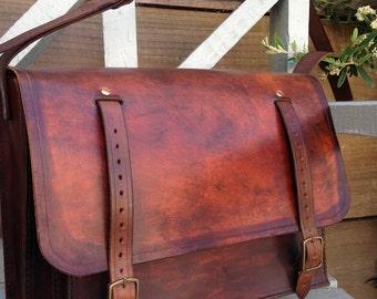 Handmade Leather Overnight Bag